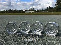 Chevy 2500 HD 16 8 Lug OEM Duramax Diesel 4x4 Aluminum Wheels, Wheel Caps, Lugs