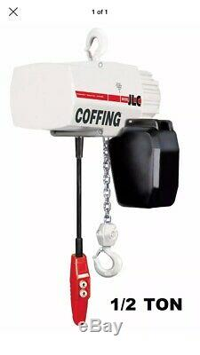 Coffing LCX Heavy Duty Electric Chain Hoist 1/2 Ton 10' Lift 230/460V 3PH 08229W