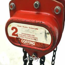 Coffing LHH 2 Ton Heavy Duty Manual Hand Fall Chain Hoist 5 Foot Lift Chain