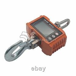 DC 6V 1000KG 1Ton 2000 LBS Digital Crane Scale Heavy Duty Hanging with LCD Display