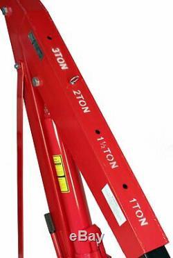 Dragway Tools 3 Ton 6000 LB Heavy Duty Engine Hoist Cherry Picker Shop Crane