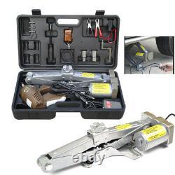Electric Car Jack 5 Ton DC 12V Automatic SUV Floor Lift Scissor Repair Tool Set