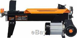 Electric Log Splitter with Stand Fire Wood Splitting Wedge Heavy Duty 6.5 Ton