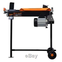 Electric Log Splitter with Stand Fire Wood Splitting Wedge Heavy Duty 6.5 Ton Home