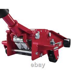 Floor Jack 3 Ton Heavy Duty Low Profile Steel Rapid Pump Technology Professional
