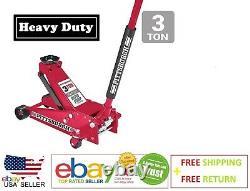Floor Jack 3 Ton Heavy Duty Steel Rapid Pump PITTSBURGH Brand New & free ship