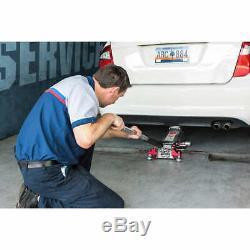 Floor Jack Service Aluminum 3-Ton Heavy Duty Steel Low Profile Rapid Pump Car