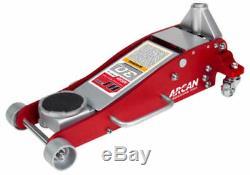 Floor Jack Service Arcan 3 Ton Heavy Duty Steel Low Profile Rapid Pump Car