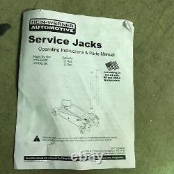 HEIN-WERNER HW93652W Heavy-Duty Steel Hydraulic Service Jack Lifting 3 Ton