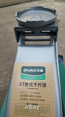 HUAQI Professional 3 TON Hydraulic Trolley Jack Compact Car Garage Heavy Duty