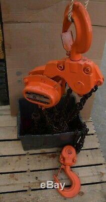 Harrington CB100 Manual Chain Hoist 10 Ton 20' Lift Heavy Duty 20,000 lb Used