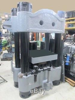 Heavy Duty 1000 Ton 4 Post Hydraulic Molding Press & Hydraulic Power Pack