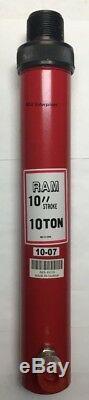 Heavy Duty 10 Ton Threaded Ram With 10 Stroke AES Industries 81110 Auto Body