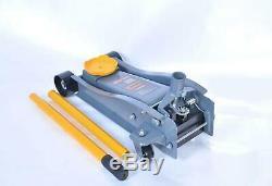 Heavy Duty 3 Ton Floor Jack Service Arcan Steel Low Profile Rapid Pump Car USA