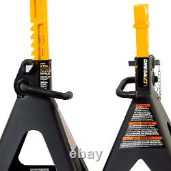 Heavy Duty 6 Ton Jack Stands Pair Double Locking Pins Handle Lock NEW