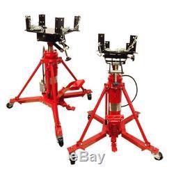 Heavy Duty AIR / Manual Hydraulic Telescopic Transmission Jack Under Hoist 1 Ton