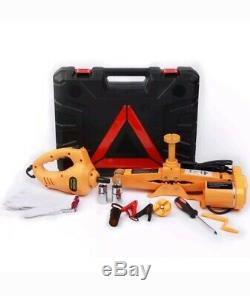 Heavy Duty Auto Electric Scissor Car Jack Lift 2Ton 1/2 Impact Wrench 12V DC