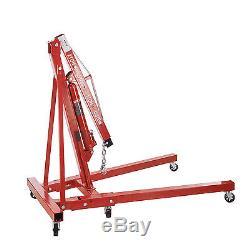 Heavy Duty Engine Hoist Shop Crane Jack Lift Hand Operated 2 Ton 4400 Lbs