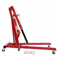 Heavy Duty Engine Motor Hoist Cherry Picker Shop Crane Lift 0.5-2 TON 4400lb