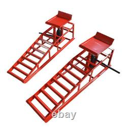 Heavy Duty Enhanced Auto Car Service Ramps Lifts Loading 3 Tons Car Ramps Newest