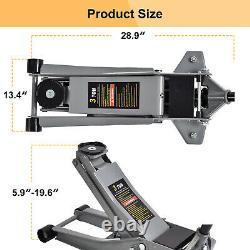 Heavy Duty Floor Jack 3 Ton Steel Ultra Low Profile Quick Pump Lifting Car