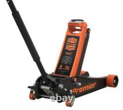 Heavy Duty Floor Jack 4 Ton Tonne Rocket Lift Low entry Magnetic Tray Orange