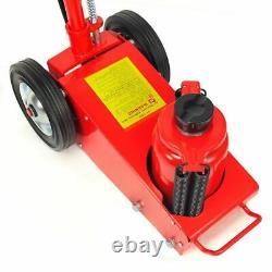 Heavy duty 35 Ton Air Hydraulic Floor Jack Wheels Lift Truck Bus Shop Equipment