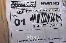 Hein-Werner HW93652 3 Ton Heavy Duty Service Jack NOS