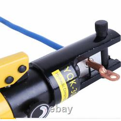 Hydraulic Crimper Crimping Tool with11 Dies Wire Battery Cable Lug Terminal 12 Ton
