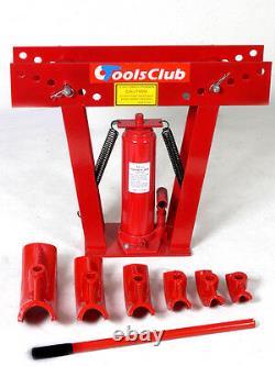 Hydraulic Pipe Bender 16 Ton Manual Tubing Heavy Duty Exhaust Tube Bendin