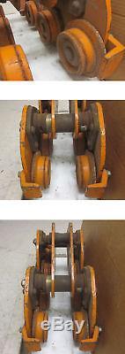 Ingersoll-Rand TVP100 8-Wheel 10 Ton Dual Plain Trolley Beam Hoist Heavy Duty