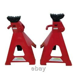 Jack Stands 12 Ton Ratcheting Adjustable Height Set Pair Heavy Duty Car Truck