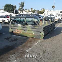 LMTV Heavy Duty Cargo Flat Bed 2.5 Ton M1078 Military Truck 12 x 8' trailer base