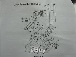 Lift-Master 3 Ton Heavy Duty Aluminum / Steel Ultra LOW PROFILE Floor Jack Rapid