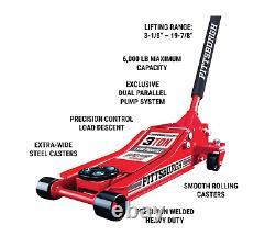 Low Profile Floor Jack 3 Ton Steel Heavy Duty Rapid Pump Car Garage Quick Lift