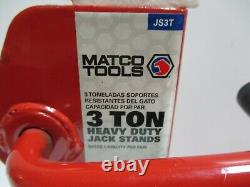 MATCO TOOLS JS3T Heavy Duty 3 Ton Jack Stands new