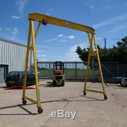 Mobile Overhead gantry crane hoist pulley Heavy Duty SWL 2 Ton