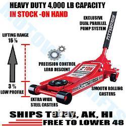 NEW 2 Ton Heavy Duty Steel Low Profile Rapid Pump Floor Jack Lowrider Extra Wide