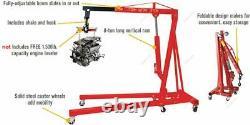New 0.5-2 TON 4400lb Heavy Duty Engine Motor Hoist Cherry Picker Shop Crane Lift