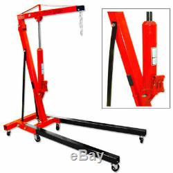 New 2 Ton Double Pump Folding Hydraulic Cherry Picker Heavy Duty Motor Lift