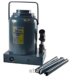New 50 Ton Tonne Hydraulic Bottle Jack Industrial Heavy Duty Tractors HGV Etc