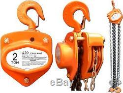 New American Power Pull 420 2 Ton Heavy Duty Steel Chain Block Hoist 2128262