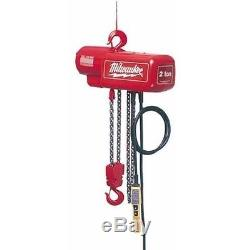 New Milwaukee 9562 1/2 Ton 20 Foot Heavy Duty Electric Hoist New With Warranty