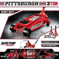 PITTSBURGH 3 Ton Heavy Duty Rapid Pump Floor Jack