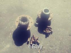 Pair CHEVY GM BIG HUB DANA 44 K20 K30 WHEEL 1973 1974 1975 1976 71-76 GM 8 LUG