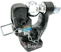 Pintle Hook 2-5/16 Ball Combo Trailer Hitch Towing Heavy Duty 8 Ton Capacity