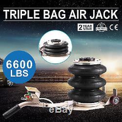 Pneumatic Jack 3 Ton Triple Bag Air Jack Lifting Height 18Inch 6600LBS Capacity