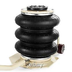 Portable 3 Ton lifts Triple stage Bag Air go Jack frame alignment car truck shop