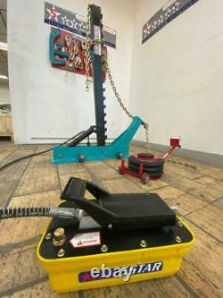 Portable Auto Body Pulling Post Frame Straightener FREE CLAMPS & 3 TON AIR JACK