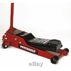 Powerbuilt 3 Ton Heavy Duty Low Profile Floor Jack 3-1/2 in. To 20 in. 647580